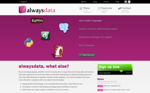 Access alwaysdata.com using Hola Unblocker web proxy