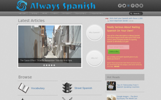 Access alwaysspanish.com using Hola Unblocker web proxy