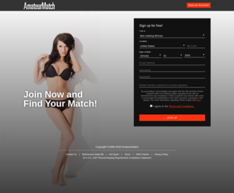 Access amateurmatch.com using Hola Unblocker web proxy