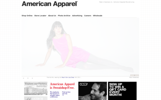 Access americanapparel.net using Hola Unblocker web proxy