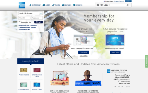 Access americanexpress.com using Hola Unblocker web proxy