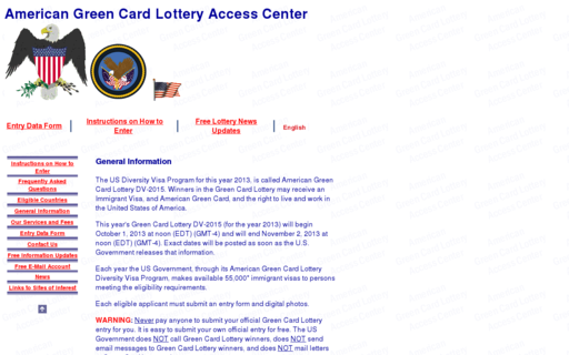 Access americangreencard.com using Hola Unblocker web proxy