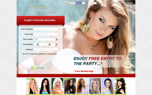 Access anastasiasingles.com using Hola Unblocker web proxy
