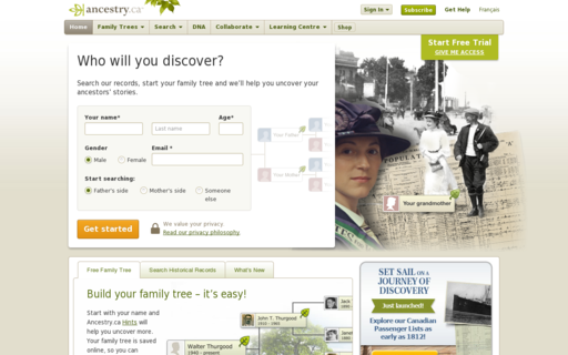 Access ancestry.ca using Hola Unblocker web proxy