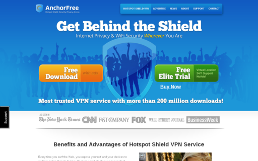 Access anchorfree.com using Hola Unblocker web proxy