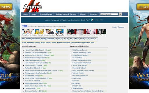 Access anime44.com using Hola Unblocker web proxy