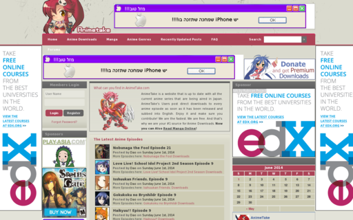 Access animetake.com using Hola Unblocker web proxy