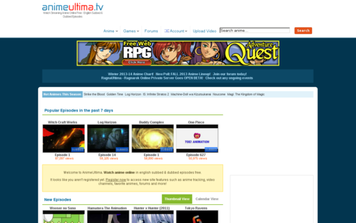 Access animeultima.tv using Hola Unblocker web proxy