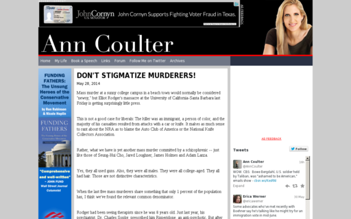 Access anncoulter.com using Hola Unblocker web proxy
