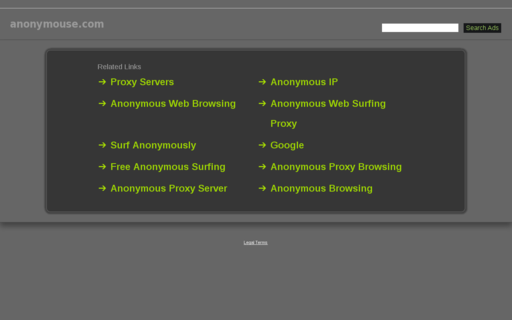 Access anonymouse.com using Hola Unblocker web proxy