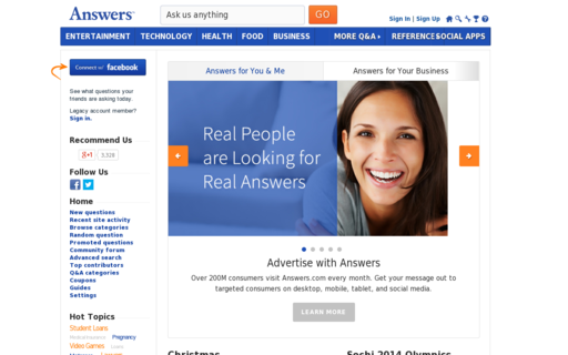 Access answers.com using Hola Unblocker web proxy