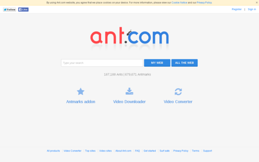 Access ant.com using Hola Unblocker web proxy