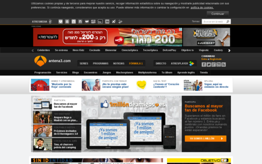 Access antena3.com using Hola Unblocker web proxy