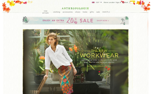 Access anthropologie.eu using Hola Unblocker web proxy