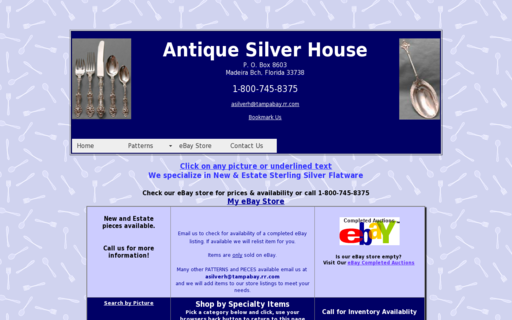 Access antiquesilverhouse.com using Hola Unblocker web proxy