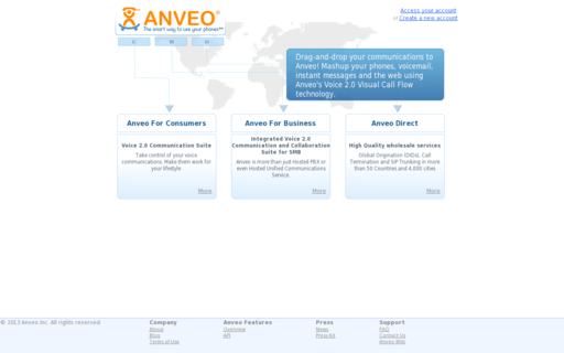 Access anveo.com using Hola Unblocker web proxy