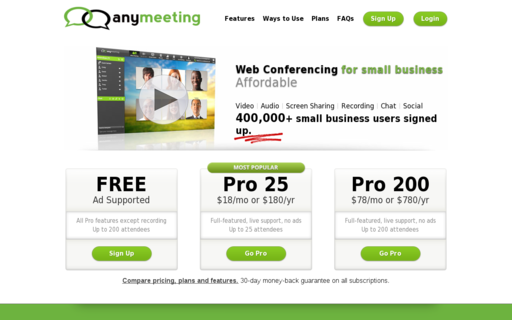 Access anymeeting.com using Hola Unblocker web proxy