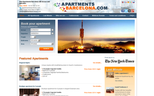 Access apartmentsbarcelona.com using Hola Unblocker web proxy