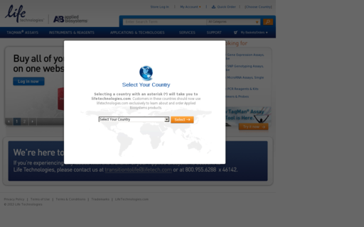 Access appliedbiosystems.com using Hola Unblocker web proxy