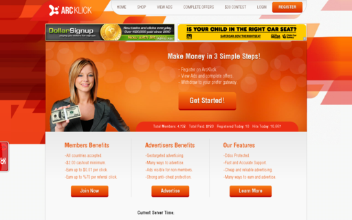 Access arcklick.com using Hola Unblocker web proxy