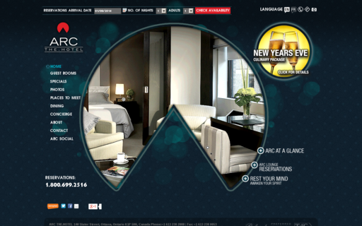 Access arcthehotel.com using Hola Unblocker web proxy