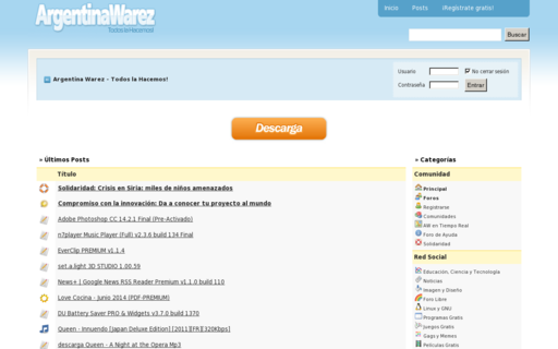 Access argentinawarez.com using Hola Unblocker web proxy