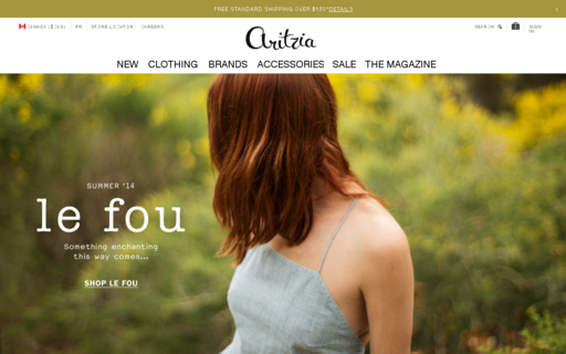 Access aritzia.com using Hola Unblocker web proxy