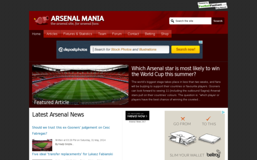 Access arsenal-mania.com using Hola Unblocker web proxy
