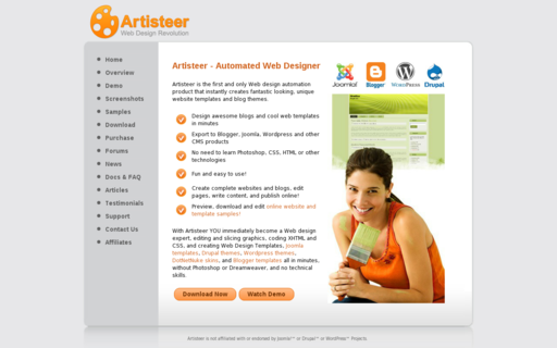 Access artisteer.com using Hola Unblocker web proxy