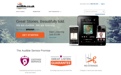 Access audible.co.uk using Hola Unblocker web proxy