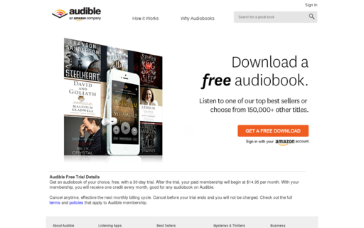 Access audible.com using Hola Unblocker web proxy