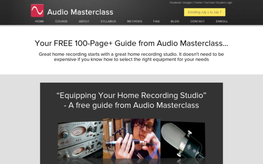 Access audiomasterclass.com using Hola Unblocker web proxy