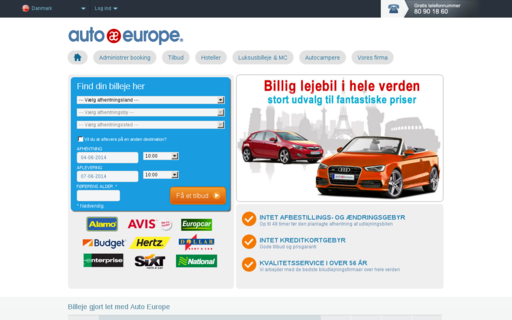 Access autoeurope.dk using Hola Unblocker web proxy
