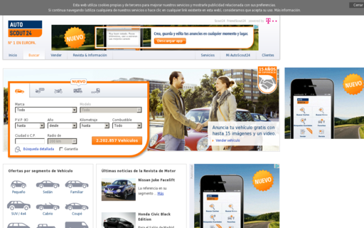 Access autoscout24.es using Hola Unblocker web proxy