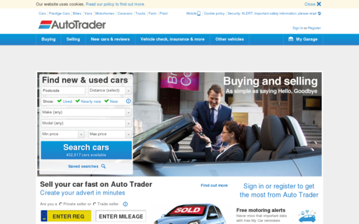 Access autotrader.co.uk using Hola Unblocker web proxy