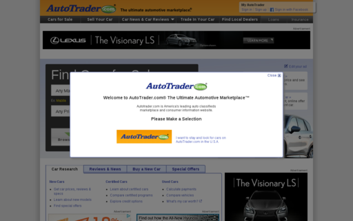Access autotrader.com using Hola Unblocker web proxy