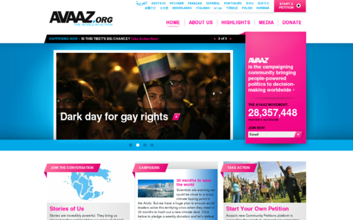 Access avaaz.org using Hola Unblocker web proxy