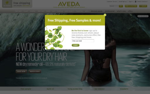 Access aveda.com using Hola Unblocker web proxy
