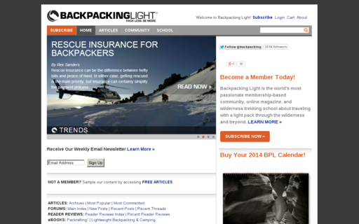 Access backpackinglight.com using Hola Unblocker web proxy