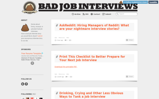 Access badjobinterviews.com using Hola Unblocker web proxy