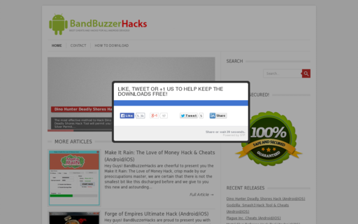 Access bandbuzzer.com using Hola Unblocker web proxy