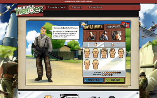 Access battlefieldheroes.com using Hola Unblocker web proxy
