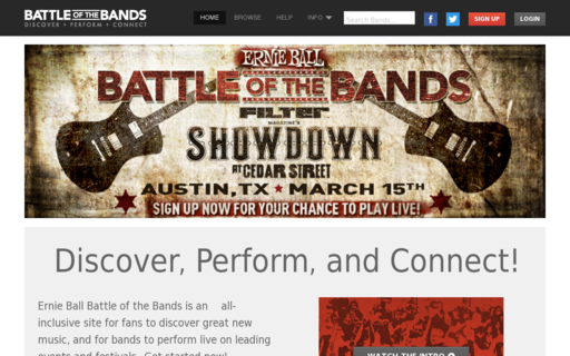 Access battleofthebands.com using Hola Unblocker web proxy
