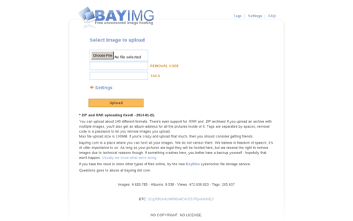 Access bayimg.com using Hola Unblocker web proxy