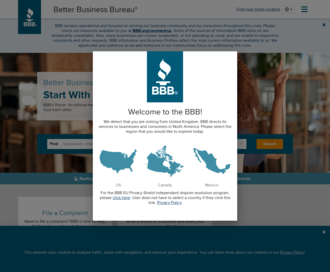 Access bbb.org using Hola Unblocker web proxy