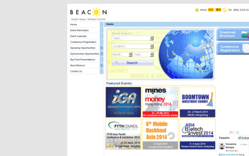 Access beaconevents.com using Hola Unblocker web proxy