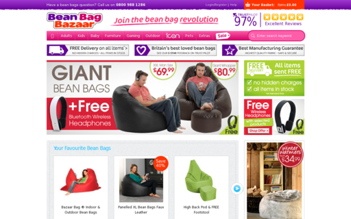 Access beanbagbazaar.co.uk using Hola Unblocker web proxy