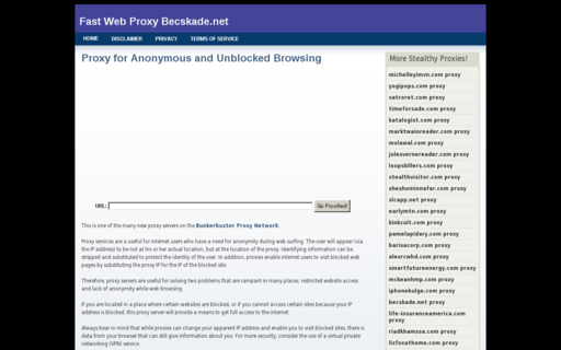 Access becskade.net using Hola Unblocker web proxy