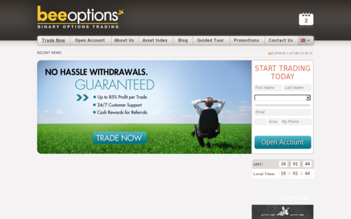 Access beeoptions.com using Hola Unblocker web proxy