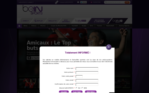Access beinsports.fr using Hola Unblocker web proxy